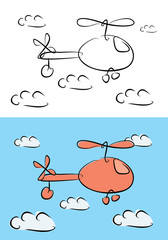 cartoon helicopter illustration