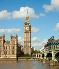 House of Parliament with Big Ben tower in London UK
