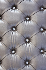 silver  upholstery pattern with crystal