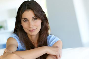 Portrait of attractive brunette woman