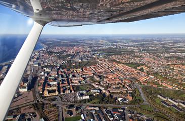 Aerial view of Helsingborg