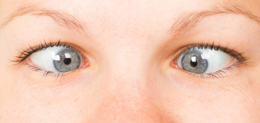 Women eye, close-up, blue