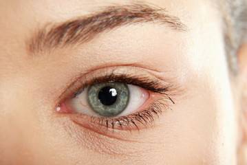Close-up portrait of a beautiful female eye