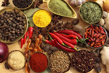 Fototapete - Spices and herbs