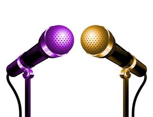 Microphones or et violet