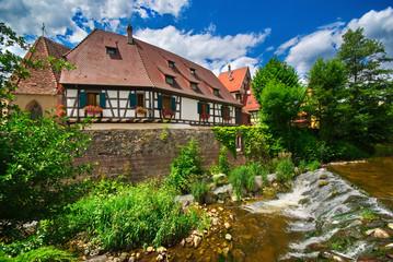Rivière Vosgienne à Kaysersberg , Alsace (Fr).