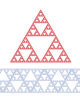 Sierpinski triangle vector