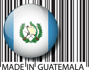 Made in Guatemala barcode. Vector illustration