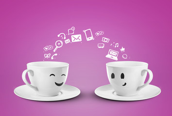 social media happy cups