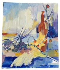 still life, tempera, hand painting