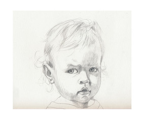 pencil drawing - child