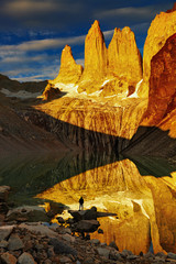 Wall Mural - Torres del Paine at sunrise