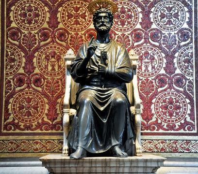 Statue of St. Peter. Vatican.