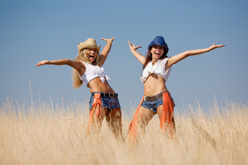 Cowgirls at the field