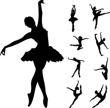 Set of ballet dancers