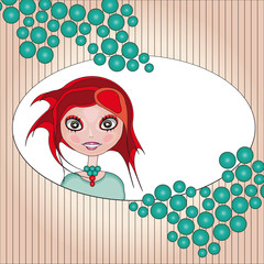 fashion girl with bubbles