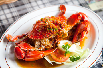 crabs with spicy sauce