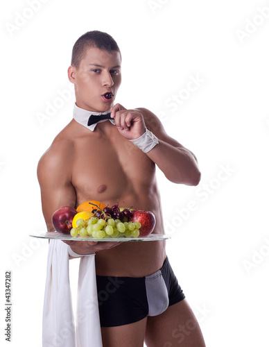 официантка голая фото