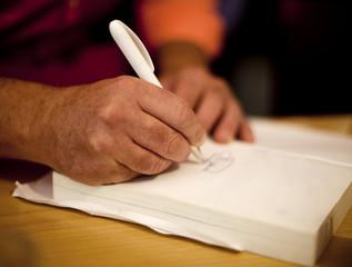 signature dédicace de livre d'or