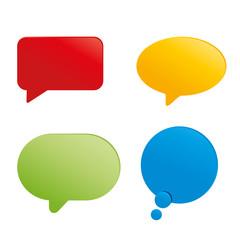 vecteur, bulle dialogue