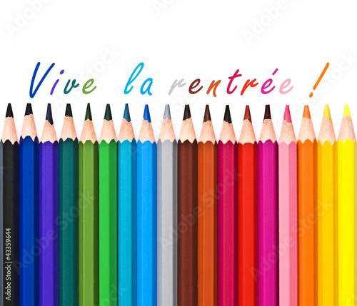 crayons de couleur vive la rentr e photo libre de droits sur la banque d 39 images. Black Bedroom Furniture Sets. Home Design Ideas