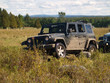 jeep dans un champs