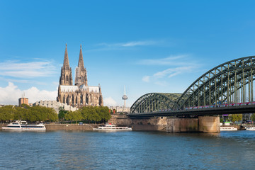 View of Cologne over the Rhein