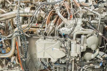 Fotomurales - complex passenger jet engine detail