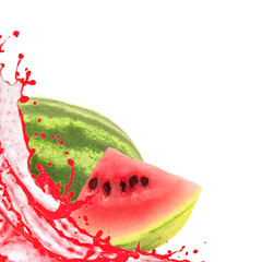 Mellon with splash isolated on white