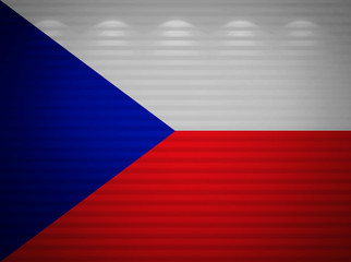 Czech flag wall, abstract background
