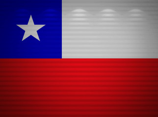 Chile flag wall, abstract background