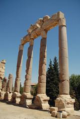 Jupiter s temple ancient Roman columns, Baalbek, Lebanon