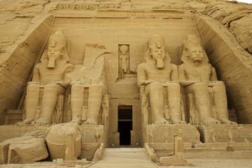 rock temple of rameses II at abu simbel, egypt