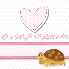 baby shower - turtle - bimba - it's a girl