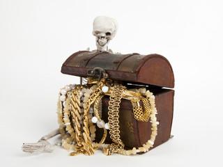 Skelette und Schatzkiste