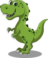 An illustration of a happy dinosaur