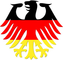 Bundesadler in schwarz rot gold