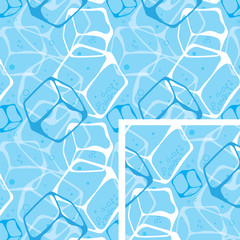 seamless background  ice  cubes