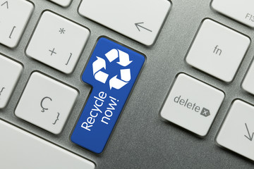 Recycle now! keyboard