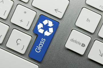 recycling glass keyboard