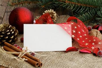 Weihnachtsdeko mit Karte