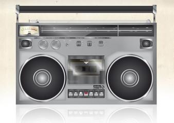 Vintage radio cassette