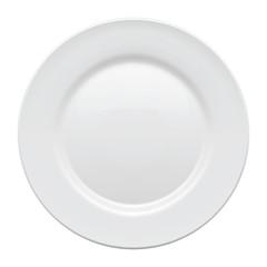 Plate. Vector illustration.