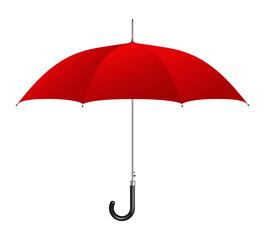 Red umbrella on white background. Vector illustration