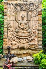 buddha brick at Thai temple