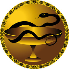 snake - a symbol of the medical