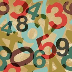 Vintage numbers pattern