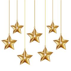 golden decoration stars
