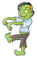 Cartoon zombie theme image 1