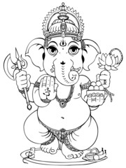 Lord Ganesha of Hindus God